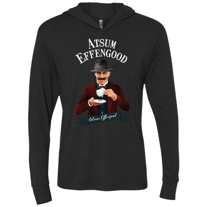 NL6021 Unisex Triblend LS Hooded T-Shirt - Atsum Effengood Coffee