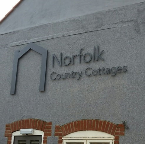 Norfolk Country Cottages Outside Wall Sign - Apex Signs & Engraving
