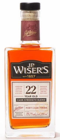 J.P. Wiser's 22 Year Old Cask Strength Canadian Whisky