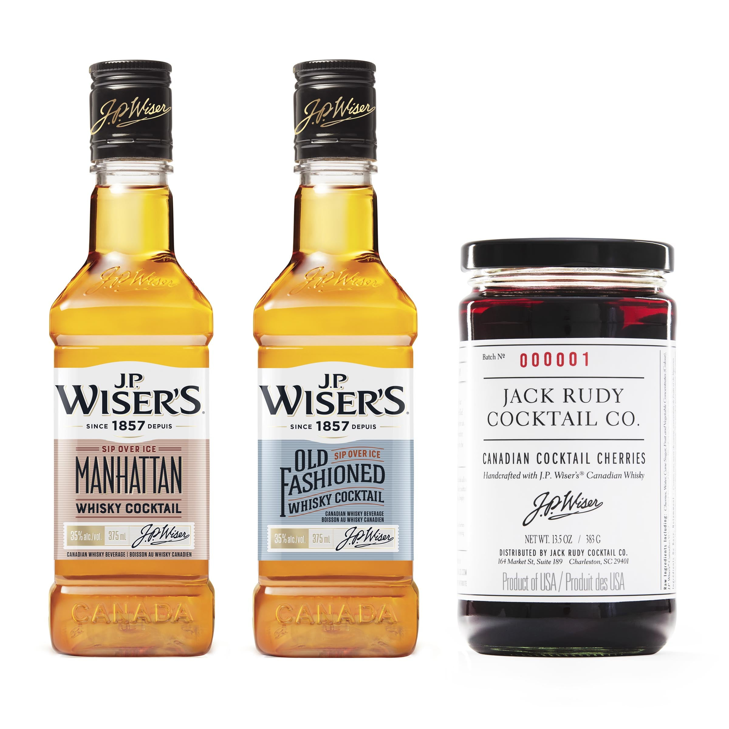 J.P. Wiser's Cocktails & Cherries Gift Set