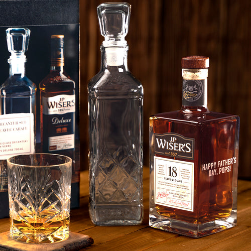 J.P. Wiser's Father's Day Decanter Set and Engravable Whisky