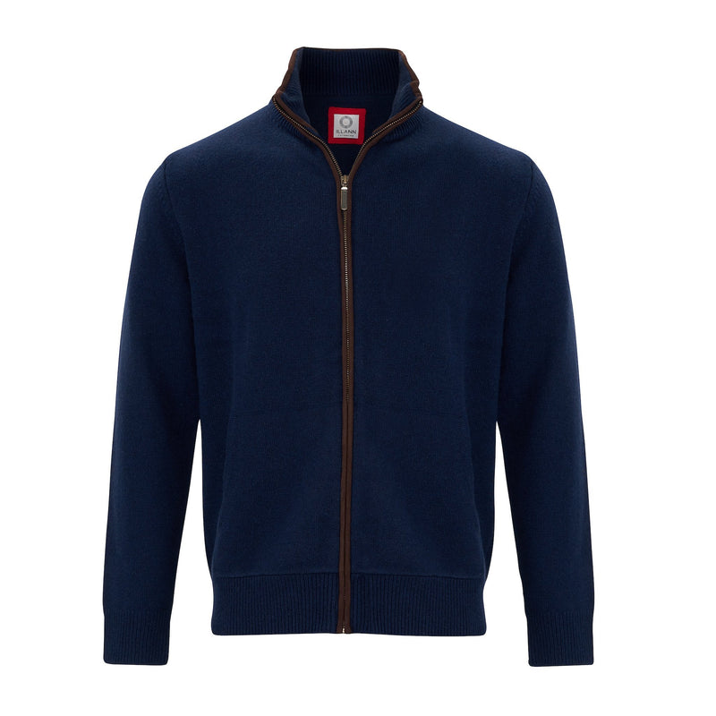 Cardigan Four ply - Navy - IllannMen's Cardigan