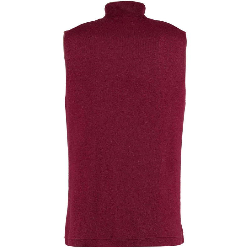Reversible Gilet - Claret / Denim Claret side back