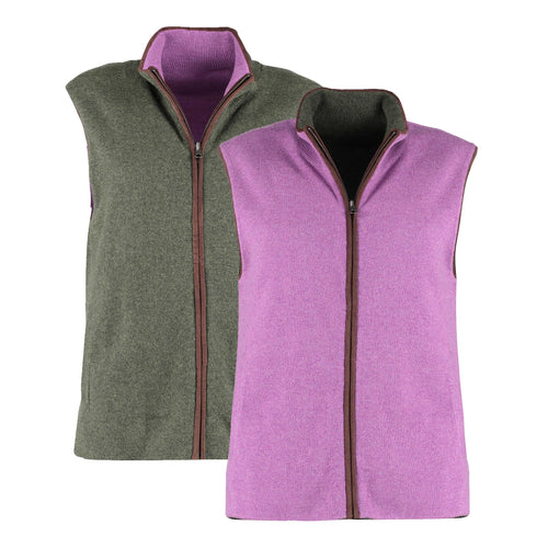 Reversible Gilet - Heather / Olive