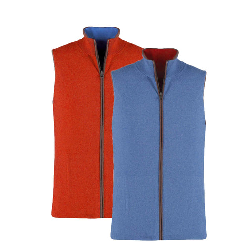 Reversible Gilet - Burnt Orange / Denim - IllannMen's Gilet