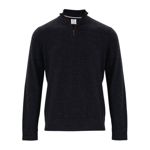 Zip Neck Two ply - Charcoal - IllannMen's Zip Neck