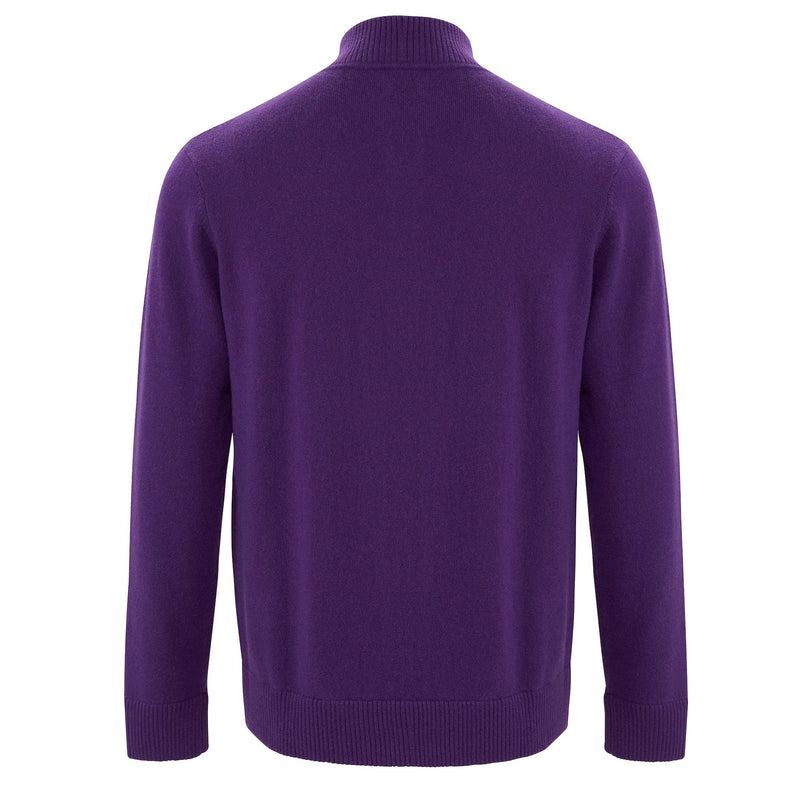 Zip Neck Two ply - Plum - IllannMen's Zip Neck