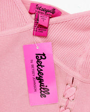 Betsey Johnson Top tricot veter