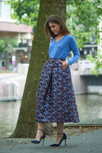 MSGM skirt  long  black/blue