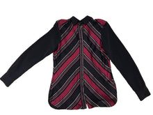 Max Mara Blouse Stripes silk Fuchsia
