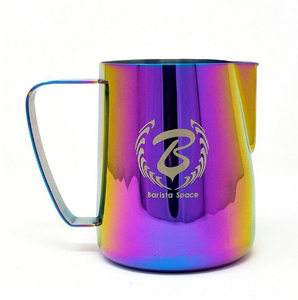 BARISTA SPACE STAINLESS STEEL LATTE ART MILK JUG RAINBOW