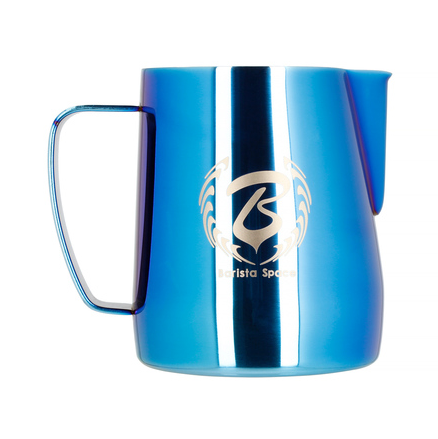 BARISTA SPACE STAINLESS STEEL LATTE ART MILK JUG BLUE