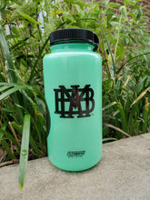 Nalgene GLOW in the dark 32 oz water bottle with Long Mountain and MBA logos