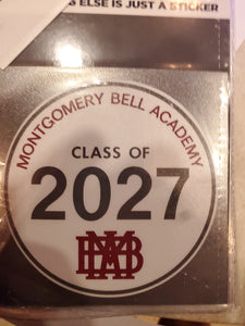 MBA Class of 2027 Decal