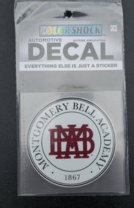 MBA Round Decal - White