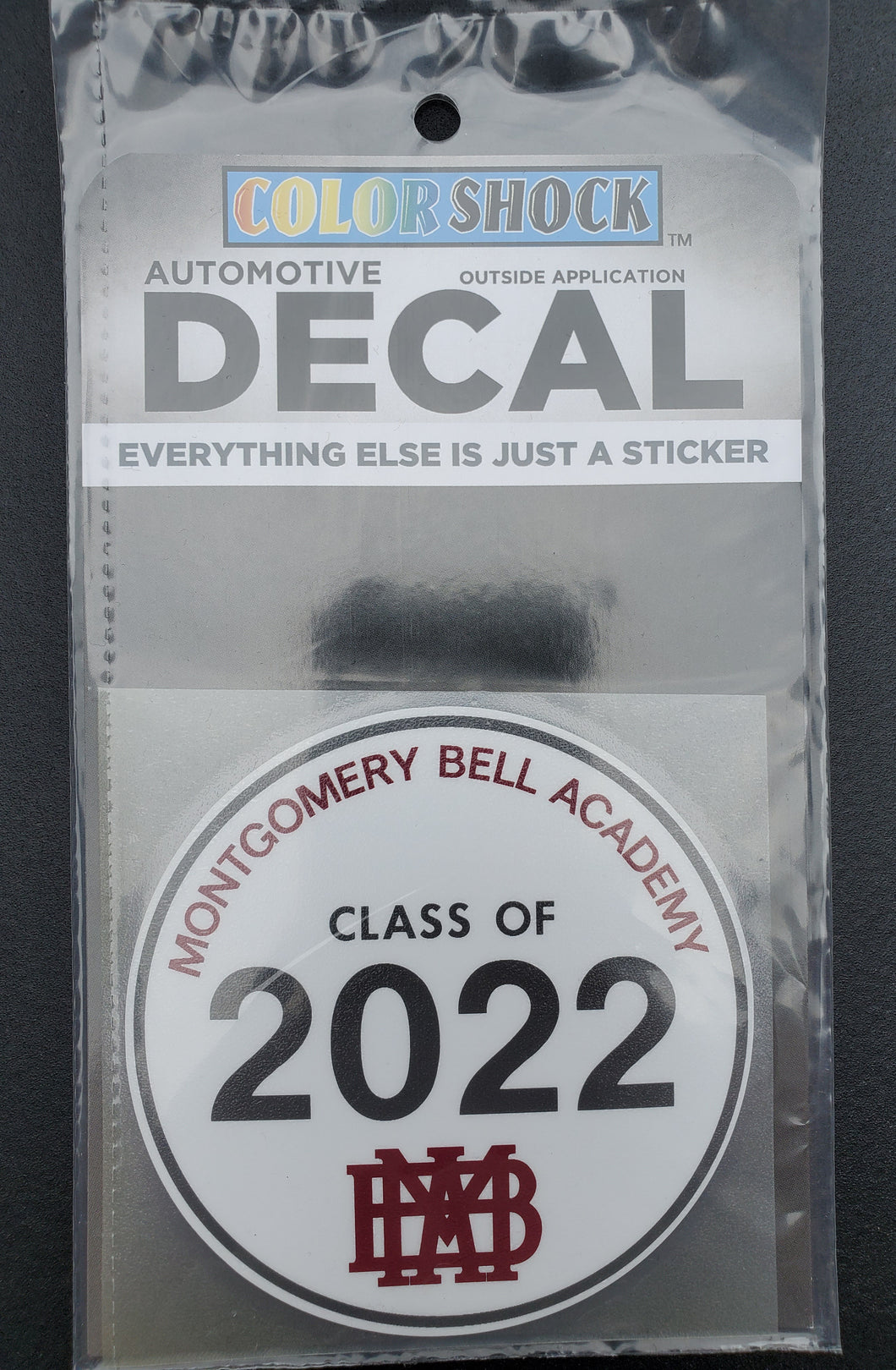 MBA Class of 2022 Decal