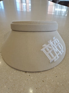Imperial Ladies Clip Visor with white logo