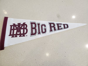 Felt pennant with Big Red