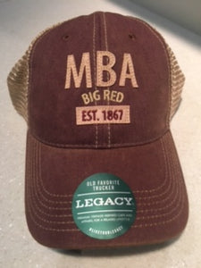 "Vintage Cardinal Legacy Hat - ""MBA Est 1867"" with mesh back"