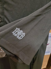Prim & Preux Adult Henley Gray Tonal MBA waffle on sleeve