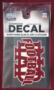 """MBA"" Automotive Football Decal"