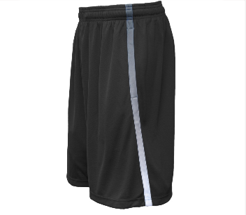 Pennant Adult Youth Black Avalanche Short with white logo