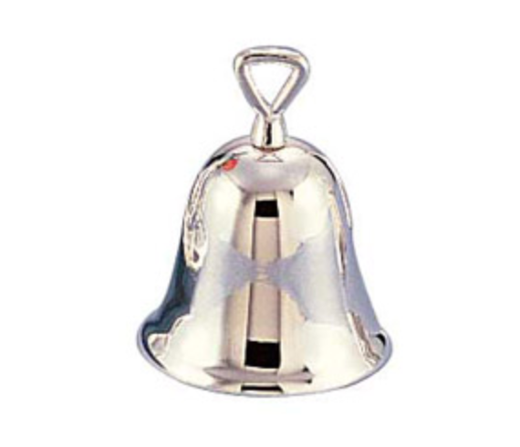 Sliver-plated bell with engraved logo!