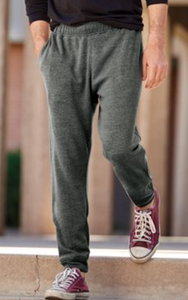 AMAZINGLY SOFT! Triblend Sweatpant Joggers Adult Dark Gray with black logo