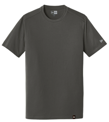 New Era Heritage Adult/Youth Short Sleeve T shirt in Graphite with cardinal logo