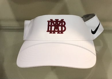 Nike Dry Visor in white with cardinal logo