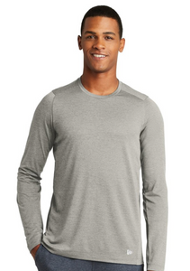 New Design!  New Era Adult/Youth Performance Gray Long Sleeve T-shirt with white circle logo