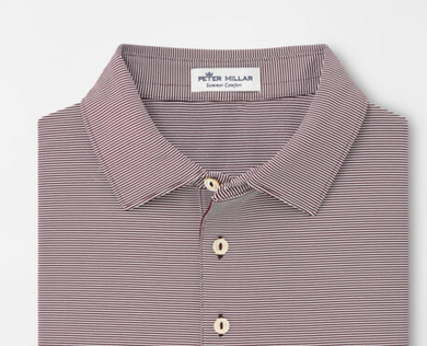 Peter Millar Jubilee Stripe Stretch Jersey Polo