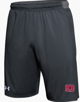 Under Armour Locker Gray Pocketed Shorts with waffle logo NOW IN STOCK!