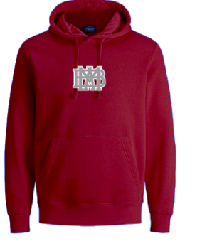 Nike Club Fleece Adult Cardinal Hoodie with waffle logo-BACK IN STOCK!!