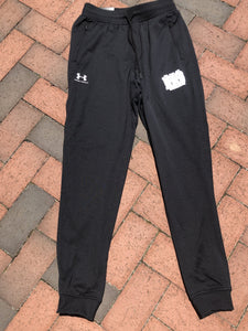 FINALLY IN STOCK!  Under Armour Black Joggers White Logo in XS/YXL