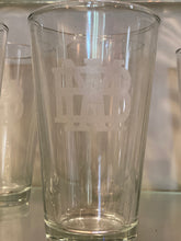 Clear 16 oz Etched Drinking Glass