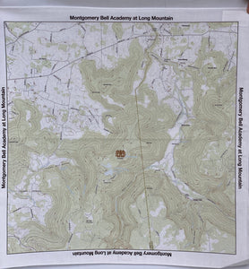 MBA Long Mountain Topo Map Bandana