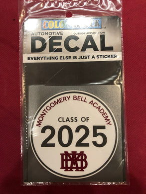 MBA Class of 2025 Decal
