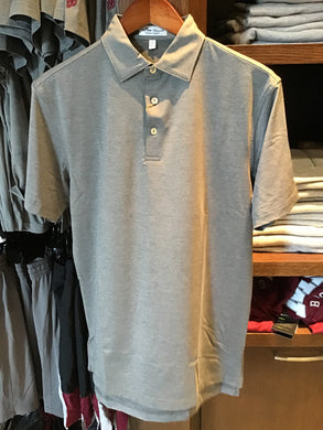 Restock on the way! Peter Millar Gray Performance Jersey Polo