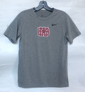 Nike Legend ADULT and YOUTH Performance T-Shirt Gray with Cardinal MBA
