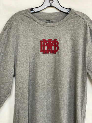 New Era Adult Long Sleeve Gray T-shirt with Logo