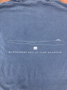 Comfort Colors Denim Blue Pocket T-Shirt Silver Long Mtn Stars