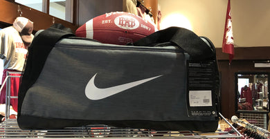 Nike Brasilia Gray Medium Duffel Bag