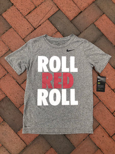 "Nike Gray Performance Adult/Youth T-Shirt ""Roll Red Roll"""