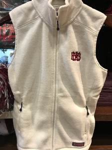 White Tech Fleece Vineyard Vines Vest