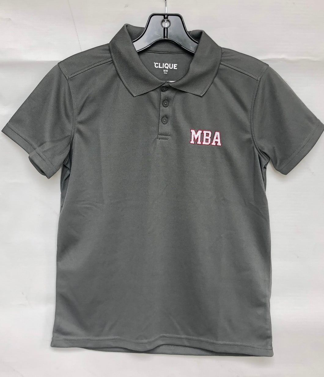 Clique Grey Youth MBA Polo