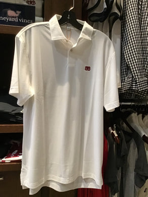 Peter Millar White Short Sleeve Pique Polo