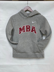 Nike Youth and Adult Club Fleece Hoodie Sweatshirt Gray with Cardinal and White MBA