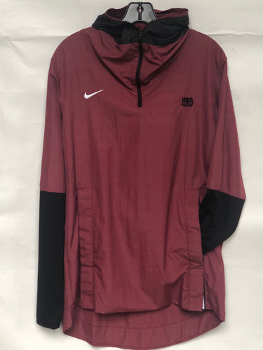 Nike Hooded Players Jacket Cardinal with black sleeves