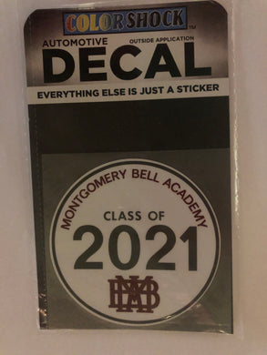 MBA Class of 2021 Decal